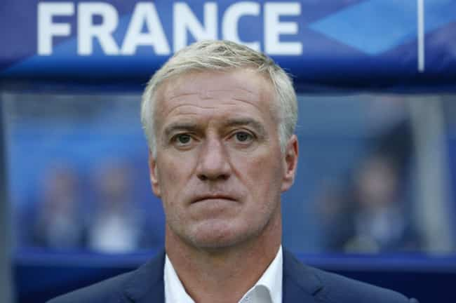 Frankreichs Nationaltrainer Didier Deschamps im Juni 2015. AFP PHOTO / THOMAS SAMSON