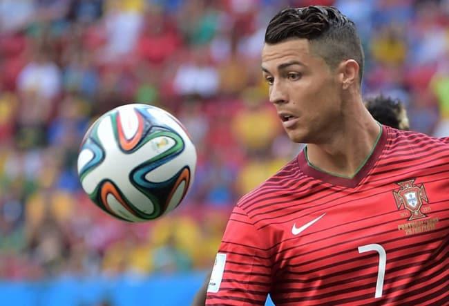 Cristiano Ronaldo gegen Ghana bei der WM 2014 am 26.Juni 2014. AFP PHOTO / GABRIEL BOUYS