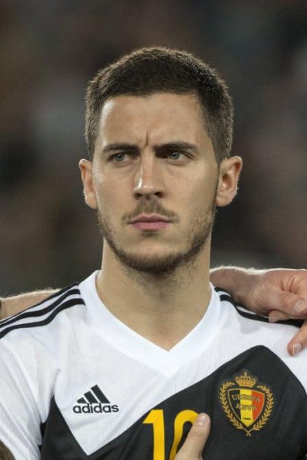 Belgiens Mittelfeldspieler Eden Hazard vor dem EM 2016 Qualispiel gegen Israel. AFP PHOTO / JACK GUEZ
