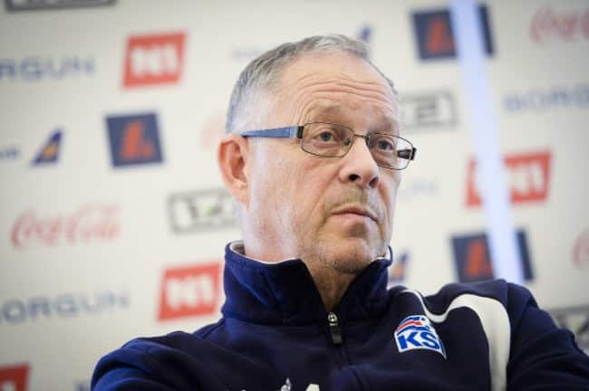 Islands Trainer Lars Lagerback AFP PHOTO / BELGA PHOTO / LAURIE DIEFFEMBACQ