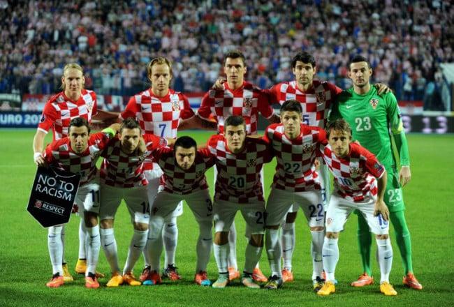 Kroatische Nationalmannschaft gegen Aserbaidschan am 14. Oktober 2014. AFP PHOTO/STRINGER