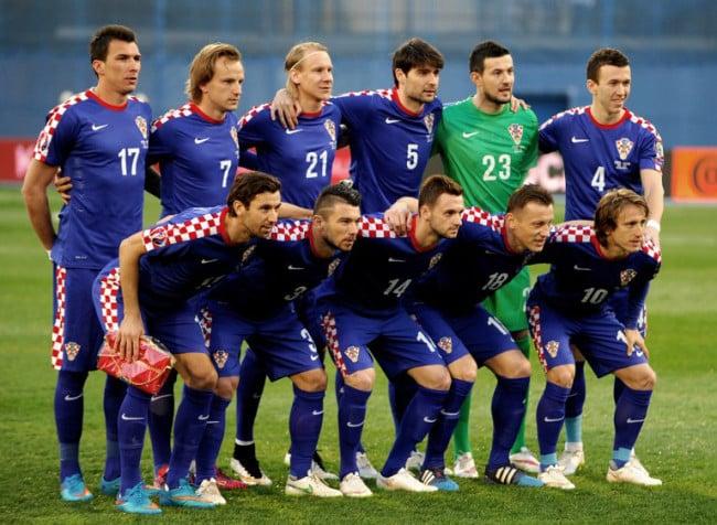 Kroatische Nationalmannschaft gegen Norwegen am 28.März 2015.AFP PHOTO/STRINGER