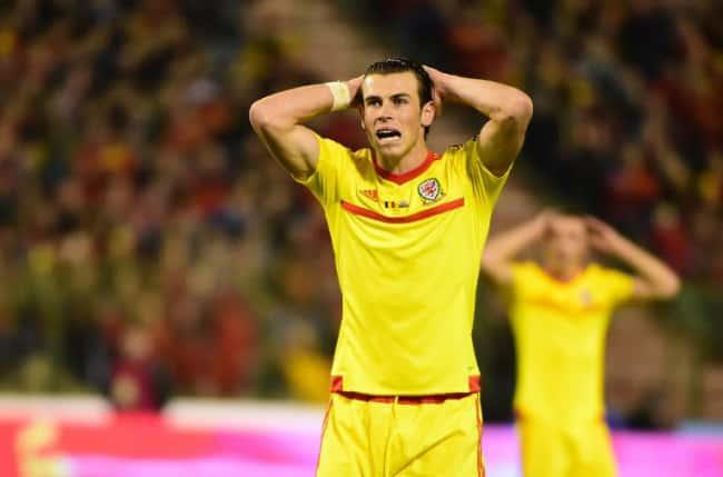 Gareth Bale, Superstar aus Wales beim Gruppe B Euro 2016 qualifying match zwischen Belgien und Walesam 16.November 2014. AFP PHOTO/Emmanuel Dunand