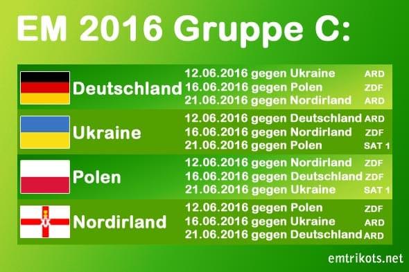 Die Ukraine spielt bei der EM-Endrunde in Gruppe C gegen Deutschland, Polen und Nordirland.