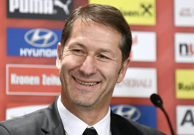 Franco Foda, 1.deutscher Bundestrainer in Österreich  / AFP PHOTO / APA / ROBERT JAEGER